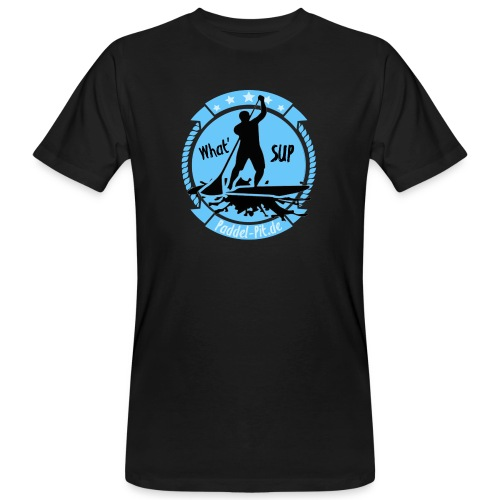 What`SUP. SUP Board Stand Up Paddling Sport - Männer Bio-T-Shirt