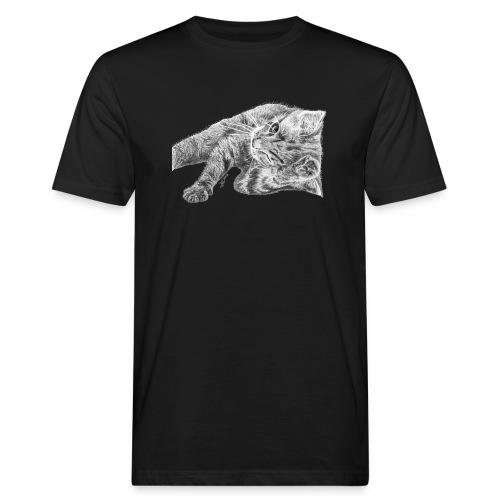 Petit chaton au crayon gris - T-shirt bio Homme
