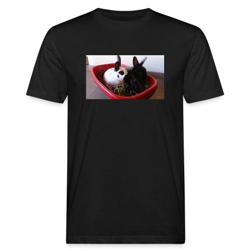 Warme Sachen mit dem Hasenlogo - Männer Bio-T-Shirt