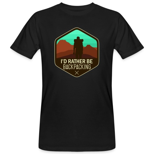 I'd Rather Be Backpacking - Männer Bio-T-Shirt