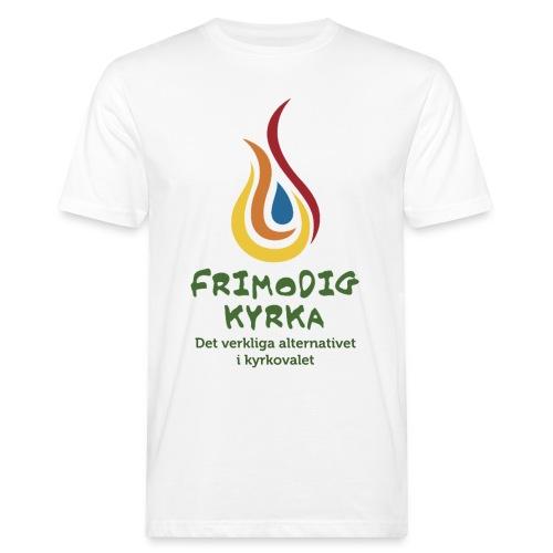 logga med text - Ekologisk T-shirt herr