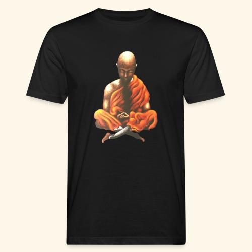 Yoga Meditation Spiritueller Buddhistischer Mönch - Männer Bio-T-Shirt