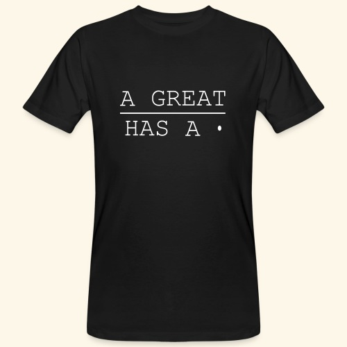 A great line has a point - Men's Organic T-Shirt