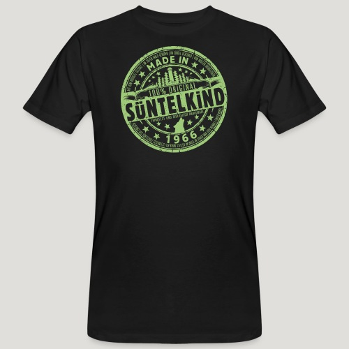 SÜNTELKIND 1966 - Das Süntel Shirt mit Süntelturm - Männer Bio-T-Shirt