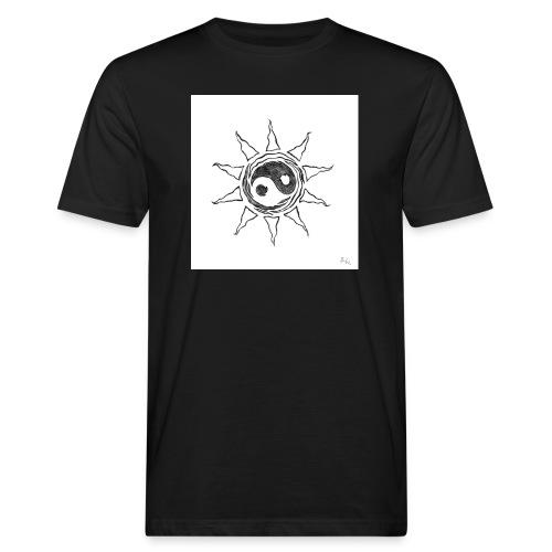 sole yin yang - T-shirt ecologica da uomo