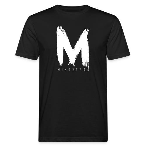 Logo Weiß - Männer Bio-T-Shirt