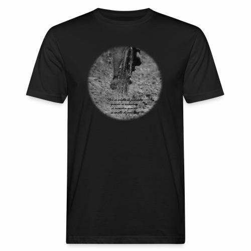 Si invecchia quando si smette di pedalare - T-shirt ecologica da uomo