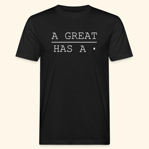 A great line has a point - Men's Organic T-Shirt
