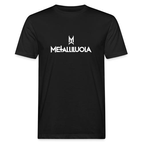 Metalliluola valkoinen logo - Miesten luonnonmukainen t-paita
