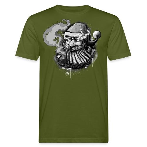 Santa SMOKED B / W - Men's Organic T-Shirt