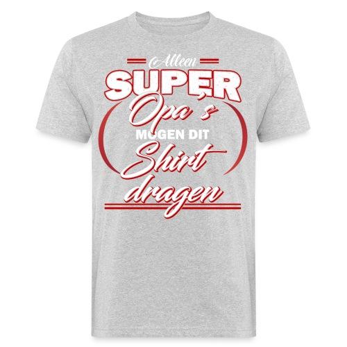 Alleen super opa's vaderdagcadeau - Mannen Bio-T-shirt