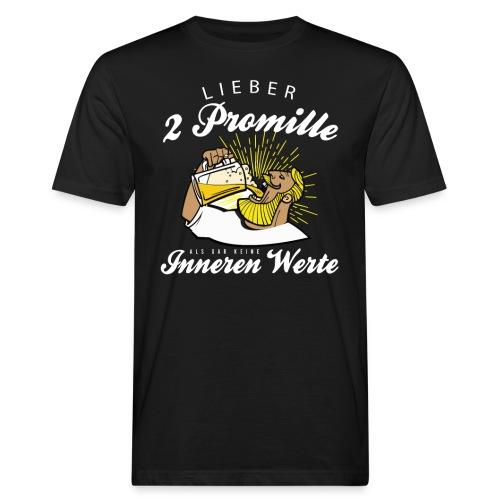 Lustiger Spruch - Lieber 2 Promille - Männer Bio-T-Shirt