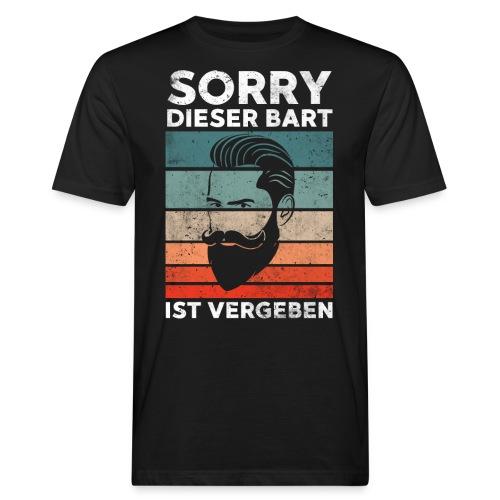 Sorry dieser Bart ist vergeben Geschenk - Männer Bio-T-Shirt