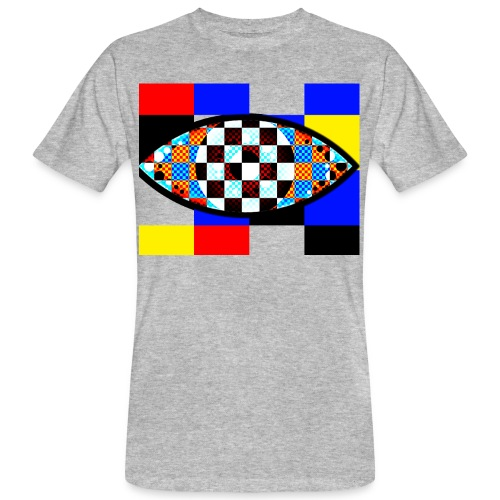 eye with squares in strong colors - Men's Organic T-Shirt