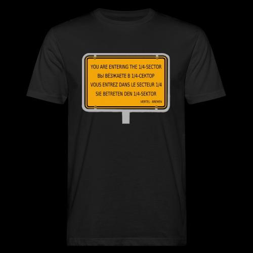 1/4 Bremen - Viertel-Sektor - Männer Bio-T-Shirt
