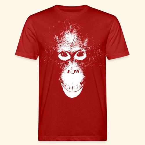 Orang-Utan Gesicht weiss - Männer Bio-T-Shirt