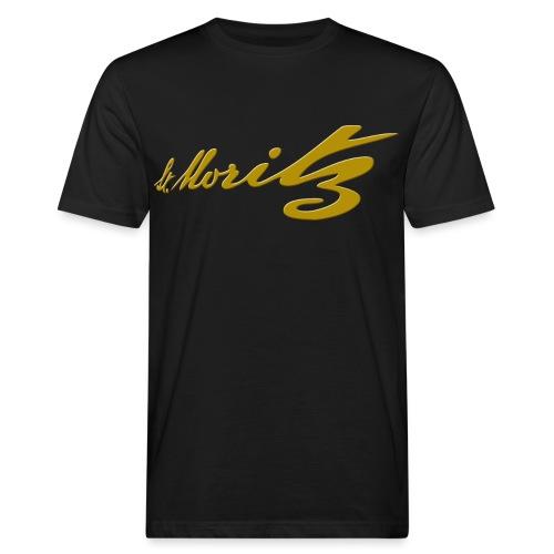 St. Moritz Schweiz Souvenir - Männer Bio-T-Shirt