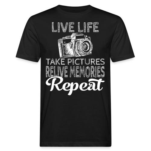 Take Pictures Skizzierter Fotoapparat Fotografie - Männer Bio-T-Shirt