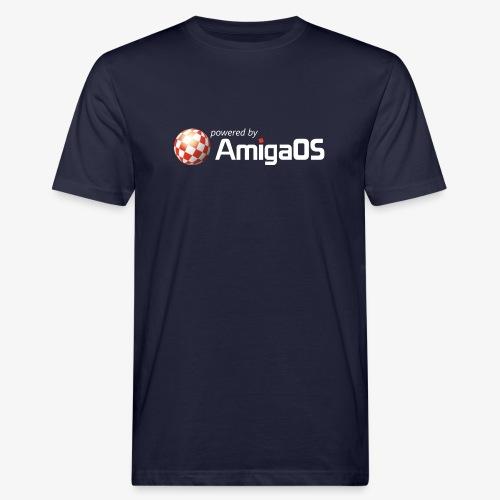 PoweredByAmigaOS white - Men's Organic T-Shirt