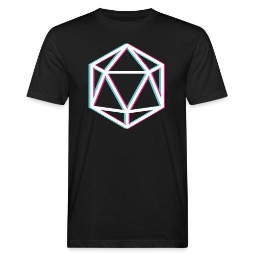 3D D20 weiß - Men's Organic T-Shirt