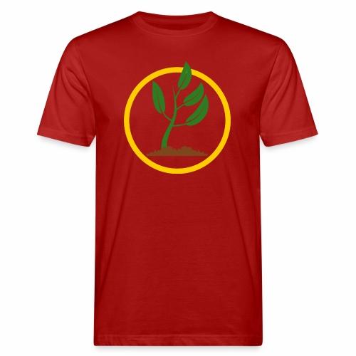 Setzlingemblem - Männer Bio-T-Shirt