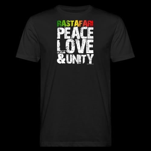 RASTAFARI - PEACE LOVE & UNITY - Männer Bio-T-Shirt