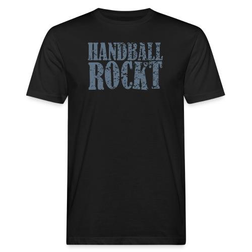 Handball_Rockt - Männer Bio-T-Shirt