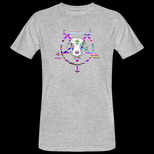 glitch cat - T-shirt bio Homme