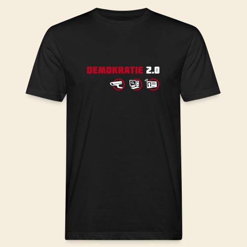 Demokratie 2.0 - Männer Bio-T-Shirt