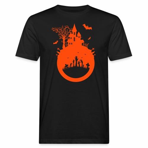Halloween Design - Das Spukhaus - Männer Bio-T-Shirt