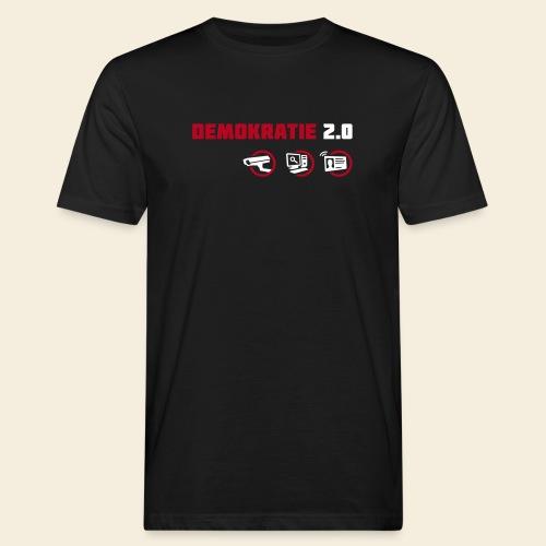 demokratie 20 dunkel - Männer Bio-T-Shirt