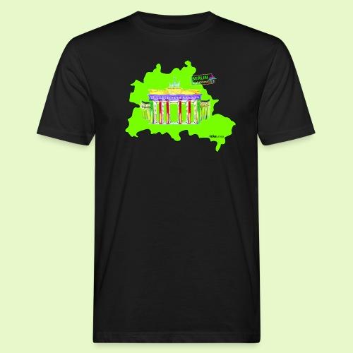 Berlin ist grün und bunt / BerlinLightShow - Männer Bio-T-Shirt