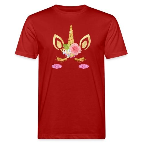 unicorn face - Männer Bio-T-Shirt