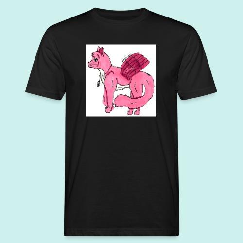 pink_cat - Miesten luonnonmukainen t-paita
