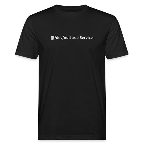 /dev/null as a Service w - Männer Bio-T-Shirt