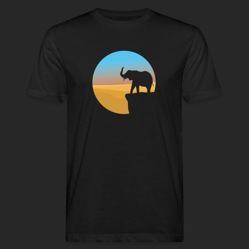 Sunset Elephant - Men's Organic T-Shirt