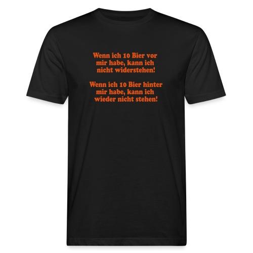 10 Bier (Spruch) - Männer Bio-T-Shirt