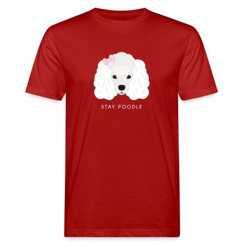 Poodle White - T-shirt ecologica da uomo