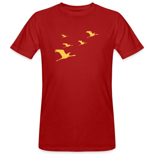 kraniche - Männer Bio-T-Shirt