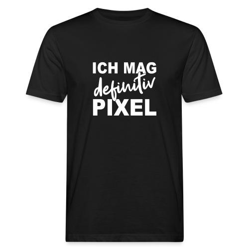 ICH MAG definitiv PIXEL - Männer Bio-T-Shirt
