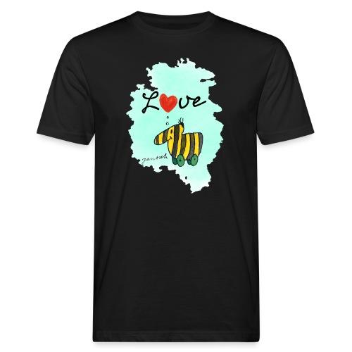 Janosch Tigerente Love Türkis SP - Männer Bio-T-Shirt
