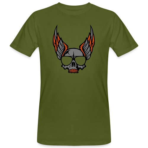 tete mort aile lunette skull aille 1206 - T-shirt bio Homme