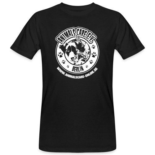 Animals Care Logo - Männer Bio-T-Shirt