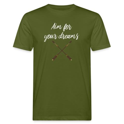 Aim for your Dreams white - Miesten luonnonmukainen t-paita