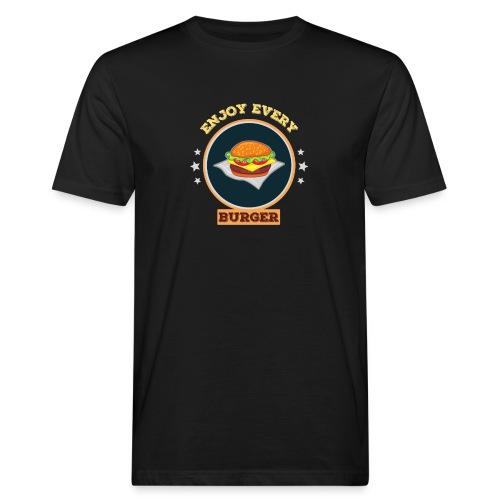 Enjoy every burger - Männer Bio-T-Shirt