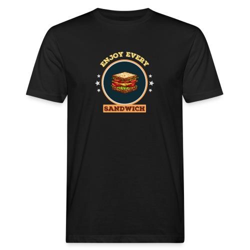 Enjoy every sandwich - Männer Bio-T-Shirt