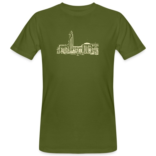 Helsinki railway station pattern trasparent beige - Men's Organic T-Shirt