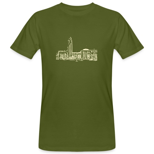 Helsinki railway station pattern trasparent beige - Men's Organic T-Shirt
