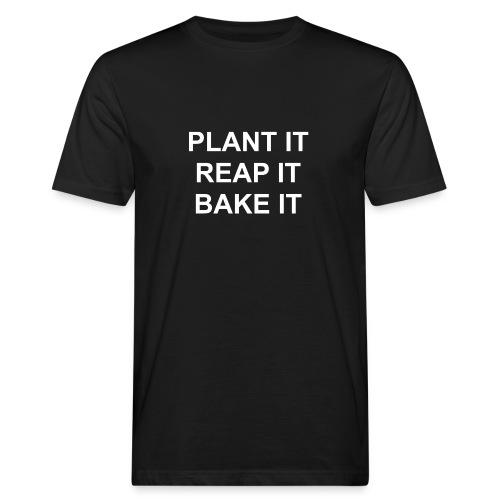 plantitreapitbakeit_white - Männer Bio-T-Shirt