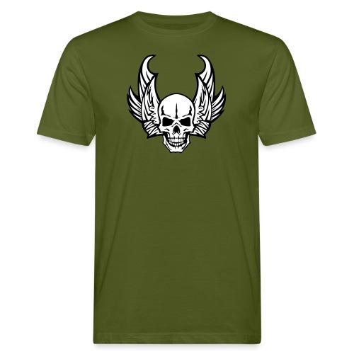 aile tete mort skull dead death wings - T-shirt bio Homme